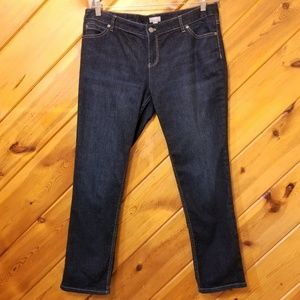 Dark Wash Jeans J Jill Slim Leg Stretch